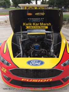 nascar-engine-at-kwik-kar-lube-and-auto-repair