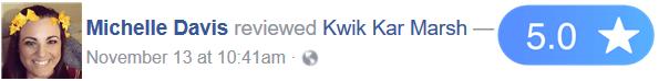 michelle-davis-kwik-kar-marsh-reviews
