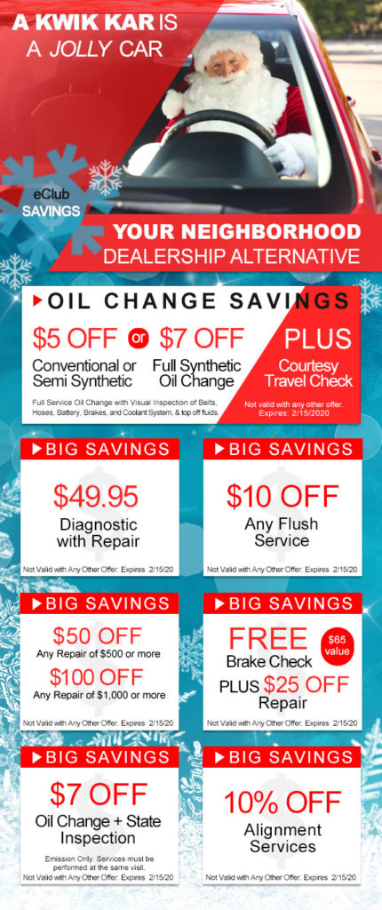Kwik Kar Coupons save you big money on oil changes, state inspections and car repair.