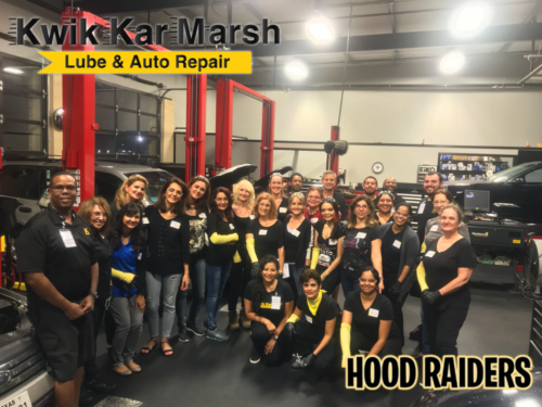 Hood Raiders Kwik Kar Marsh Car Clinic 9-10-18